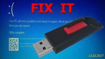 Bootable USB PC Recovery Flash Drive For Fresh Install of Corrupted OS