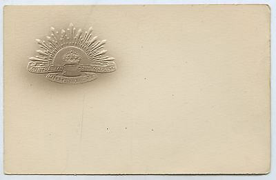 C.1914 Ww1 Postcard Embossed Rising Sun Australian Commonwealth Forces D99