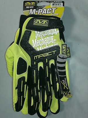 Mechanix Wear Size xl Impact Gloves, Hi-Vis Yellow, size extra large