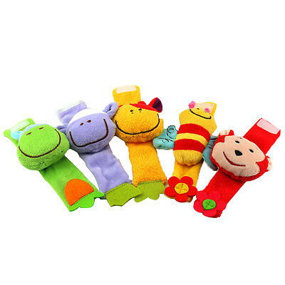 Animal Baby Rattles doll Baby soft  Wrist Strap toy Infant Newborn Plush Toys