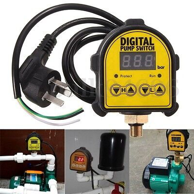10Bar Automatic Digital Pressure Controller ON/OFF Switch For Water Ail Gas Pump