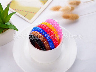 telephone line hair ring band rubber band Korean candy color head hair ornaments