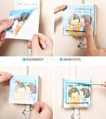 switch stickers power supply decorative stickers wall personality socket switch