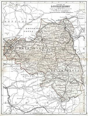 Map of County Londonderry, dated 1897.