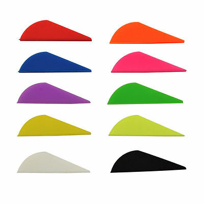 """12, 36, 50 or 100 Pack Bohning 2"""" Blazer Vanes 7 Colors Available"""