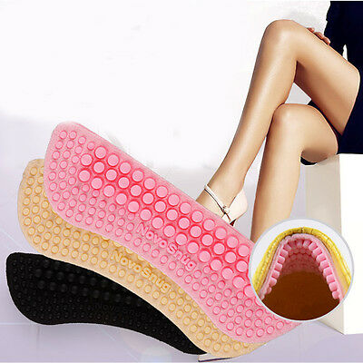 1Pair Silicone Back Heel Liner Gel Cushion Pads Insole High Dance Shoes Grips