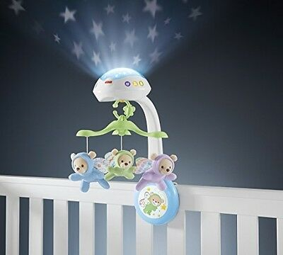 Fisher-Price Butterfly Dreams Projection Mobile Baby Crib Playset New