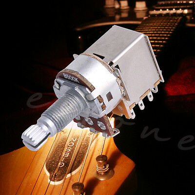 B500K Potentiometer Push Pull Switch Splined DPDT Pot Shaft18mm Electric Guitar