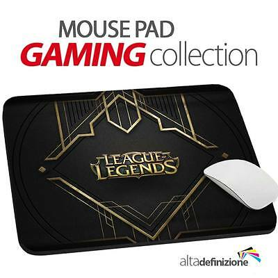 TAPPETINO MOUSE PAD Gaming 20x24 cm ANTISCIVOLO Lol League of Legends PC