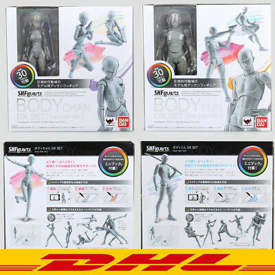KUN+CHAN DX Ver 2 Stück Set NIB S.H.Figuarts Gray He She Body Action Figure NEU