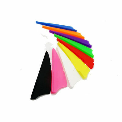 "12, 36, 50 or 100 Pack TPU Shield 3"" Arrow Vanes Fletching 7 Colors Available"