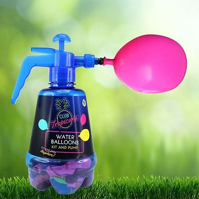 Water Bombs Balloon Pump and 100 Balloons Kit Outdoor Summer Toy for Kids