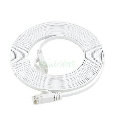 (1M~30M) Ultra-Thin Flat CAT6 RJ45 Ethernet Network LAN Internet Router Cable