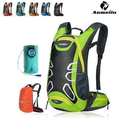 ANMEILU MTB Mountain Bike Cycling Hydration Backpack Pack + 2L Water Bladder Bag