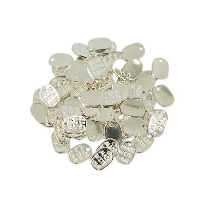 Wholesale 50pcs Silver MADE WITH LOVE Heart Charms For Jewelry Making 11x8mm