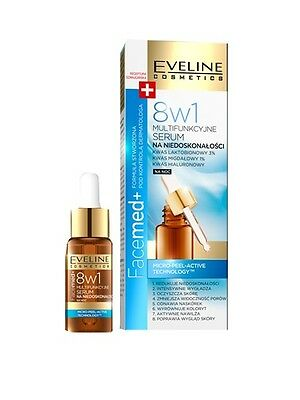 EVELINE FACEMED+ MILTIFUNCIONAL FACE SERUM AGAINST IMPERFECTIONS 8in1 NIGHT