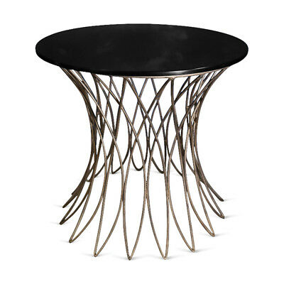 Culinary Concepts Small Elegant Triumph Table with Black Glass - Antique Gold