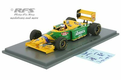 Benetton Ford B193B Michael Schumacher  Formel 1 Portugal 1993 - 1:43 Spark 4774