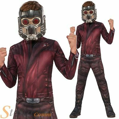 Boys Star Lord Costume Guardians Of The Galaxy 2 Superhero Fancy Dress Outfit