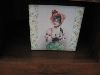 1800's Hand Painted Beautiful Antique Victorian Box