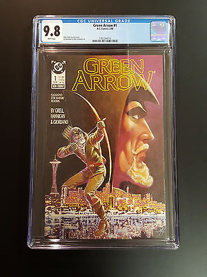 Green Arrow No. 1 Dc 2/88  Cgc 9.8 White Pages