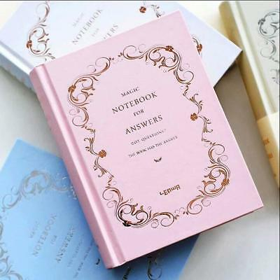 """Answers Book"" 1pc Vintage Hard Cover Notebook Diary Freenote Journal Girls Gift"