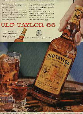 1955  OLD TAYLOR Whiskey ad (# 1096)