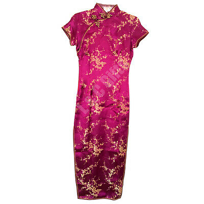 Beautiful Purple Cheongsam Chinese long dress, elegant, evening, new year