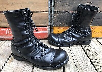 Vintage CORCORAN Cap Toe Leather Combat Military Flight Boots Men's 11EE