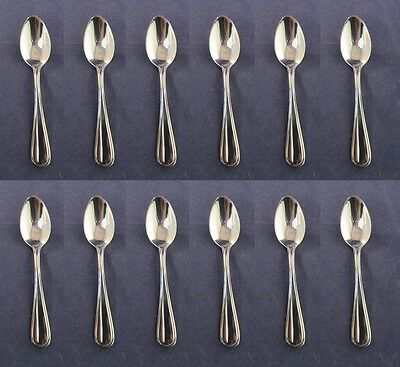 "SET OF TWELVE - Oneida Stainless NEW RIM 4-1/2"" Coffee Spoons"