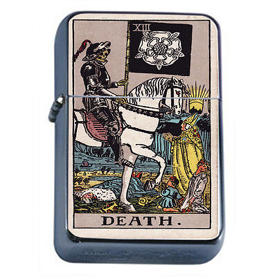 Tarot Card D14 Windproof Dual Flame Torch Lighter XIII Death