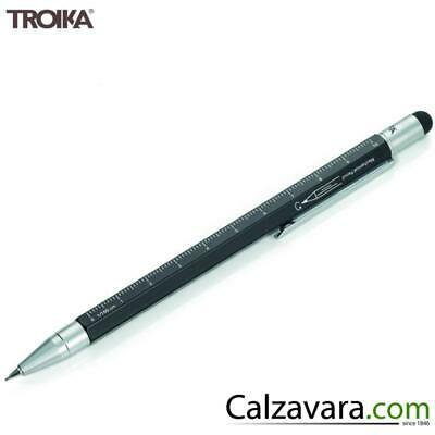 TROIKA Portamine 0,7 Construction - Righello-Scalimetro-Pennino Touch - Nero