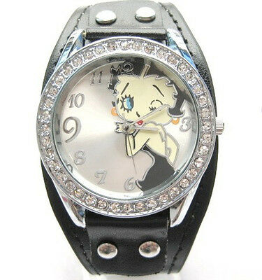 Betty Boop Watch Classic Design Betty Boop Crystal Watch:BBB