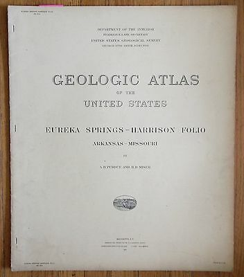 Geologic Atlas 1916 - Eureka Springs - Harrison Folio - Arkansas - Missouri