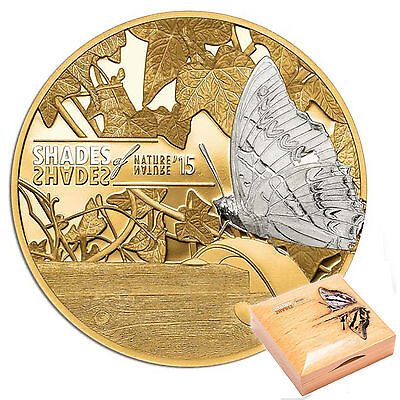 CIT 2015 Shades of Nature Butterfly 25g Gilded Silver