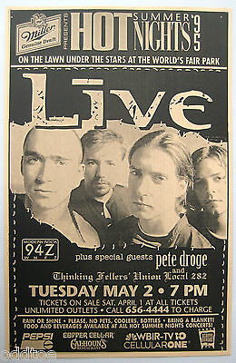 LIVE Vintage Poster 1995 Concert with Peter Droge World's Fair Park Knoxville TN