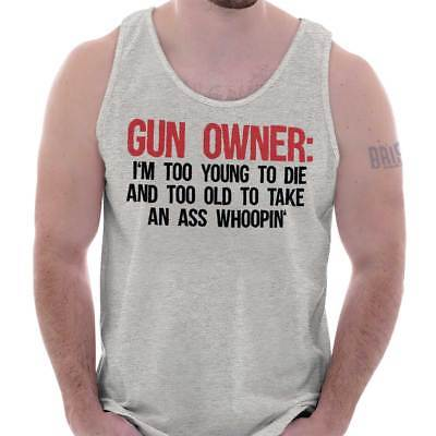 Gun Owner Young Die Old Ass Whooping USA Shirt Cool Gift Edgy Tank Top