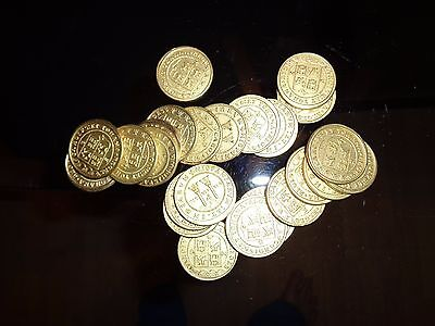 10 Ultra-Realistic Gold Metal Caribbean Pirate Treasure Coins
