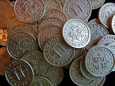 100 Ultra-Realistic Gold Metal Caribbean Pirate Treasure Coins