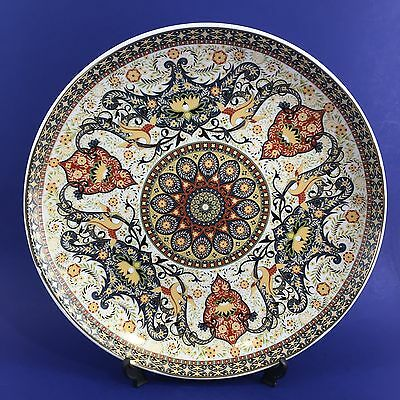 "14"" Czechoslovakian THUN Ornate Porcelain Decorative Platter Turkish Design"