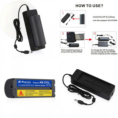 Powerextra Battery and Charger for Canon NB-CP2LH, NB-CP2L, NB-CP1L,...