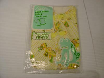 RARE Vintage CARTERS Baby Short - Sleeved Jacket LAYETTE SIZE New & Sealed
