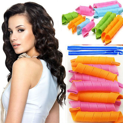18PCs 30CM Hair Roller Hot DIY Curlers Large Magic Circle Spiral Styling Tools