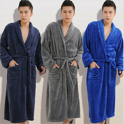 NEW WITH TAGS Unisex Men Women's Bathrobe Gray Plush Fleece Robe PICK SIZE