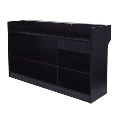 Item#ltc4B Black 4' Long Ledge-Top Check Out Counter Register Stand Brand New