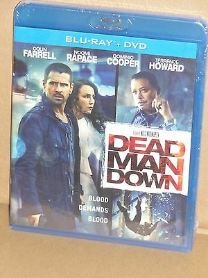 Dead Man Down (Blu-ray + DVD) Terrence Howard, Colin Farrell, Noomi Rapace, NEW!
