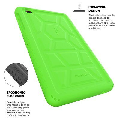 For AT&T TREK 2 HD (2016) Poetic Rugged Case Shockproof Silicone Cover Green