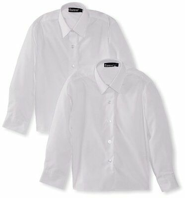 "bianco (Weiß) (TG. Chest 61 cm/24"") Blue Max Banner - Twin Pack Blouse - L/S, Ca"