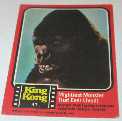 Scanlens King Kong Card #41 1976 Coloured Photo RARE VHTF Mightiest Monster