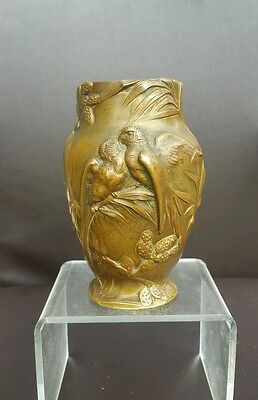 Antique French Bronze Vase by P.Bouvier c1900